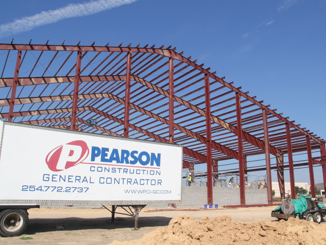 pearson building under construction